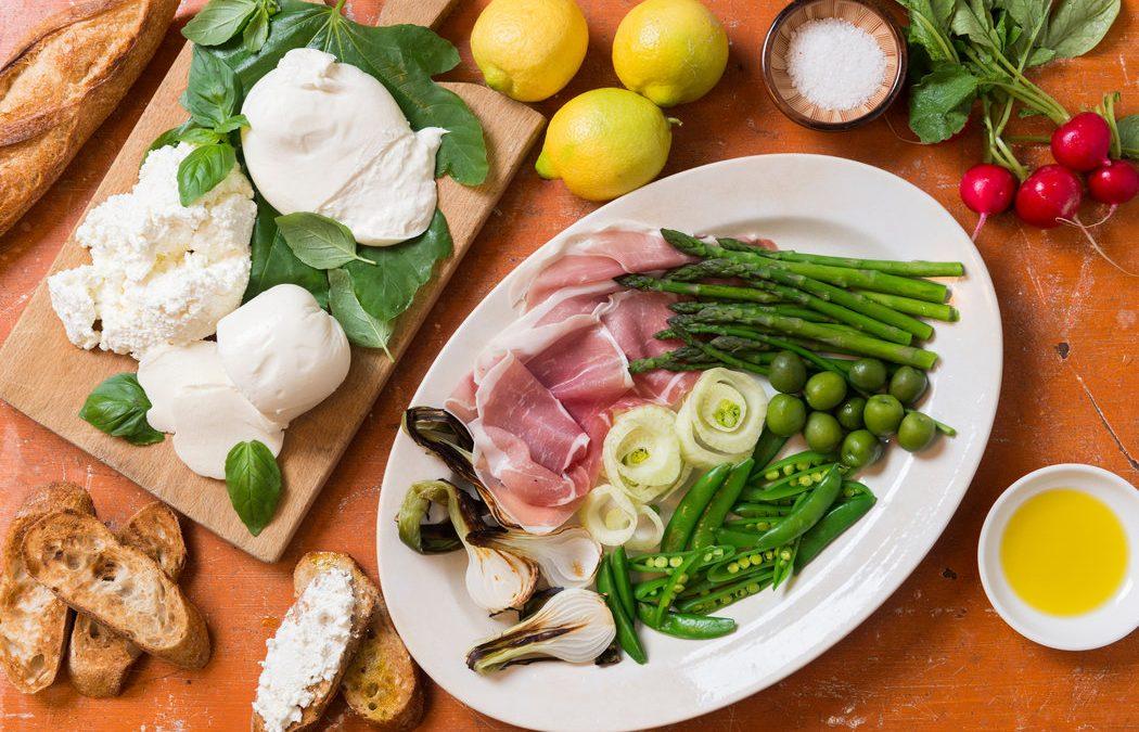 Antipasto et burrata classique