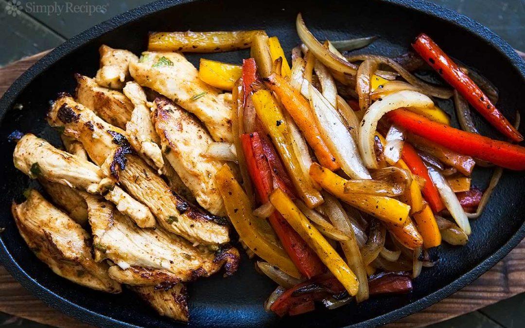 Fajitas au poulet