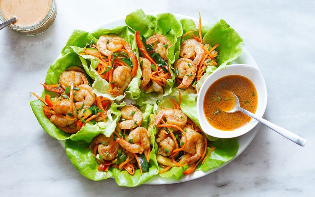 Roulés de laitue aux crevettes vietnamiennes
